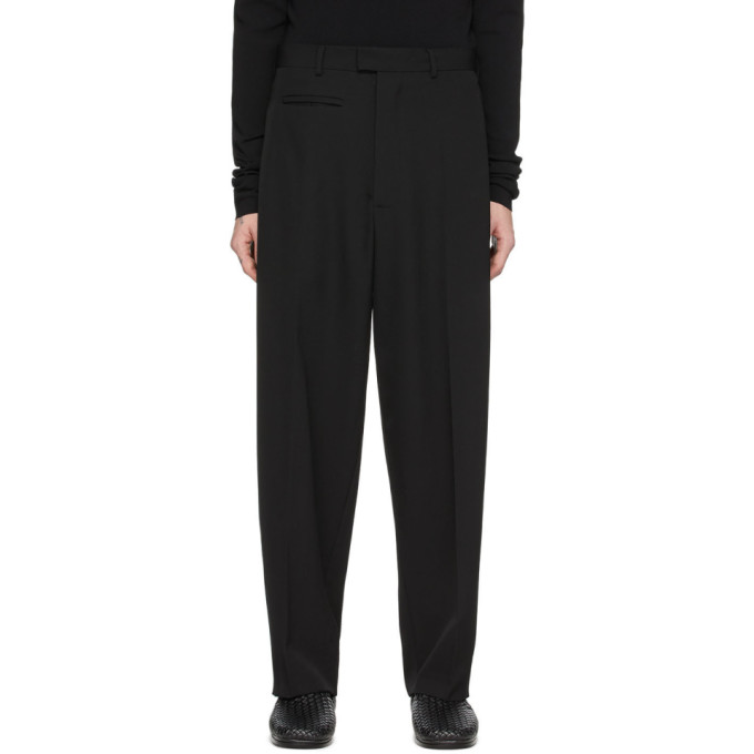 Bottega Veneta 黑色羊毛华达呢长裤