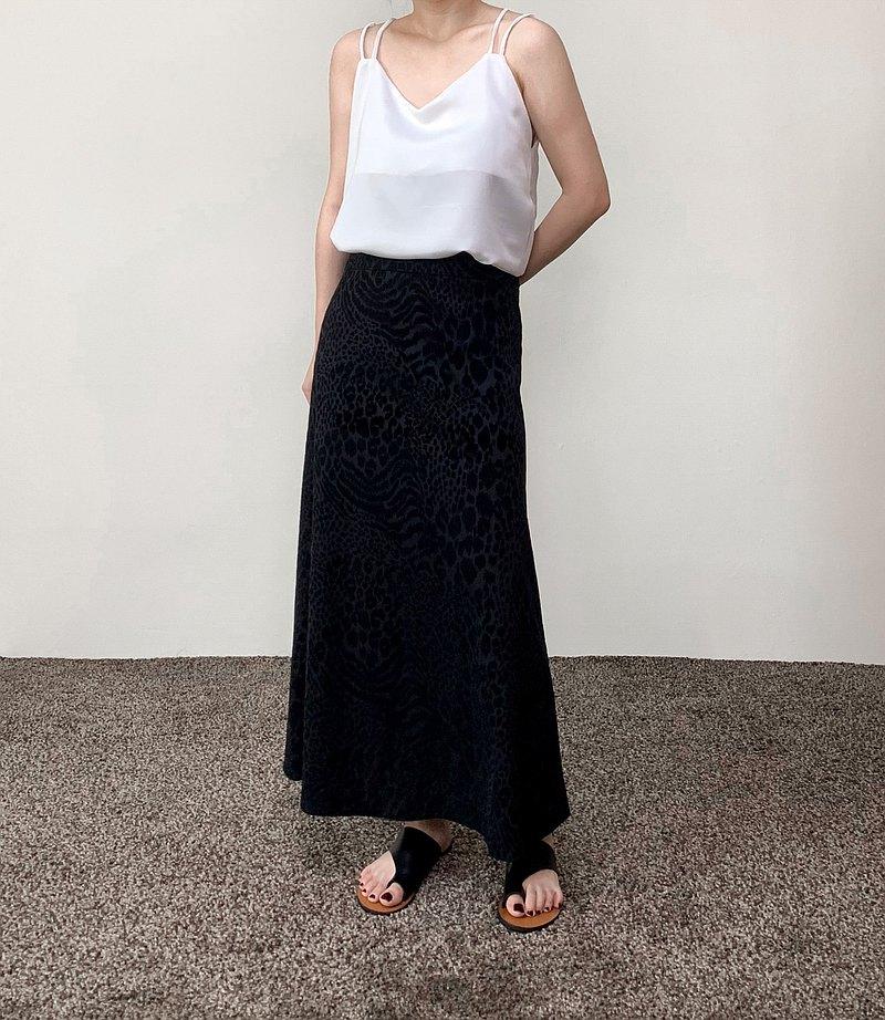黑色豹紋長裙