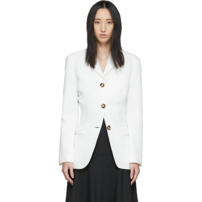 Proenza Schouler 白色束腰西装外套
