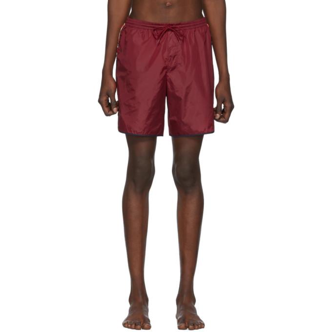 Gucci 红色 GG 泳裤