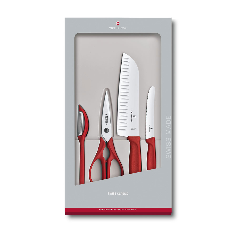 VICTORINOX瑞士維氏 經典廚具四件組 禮盒套裝