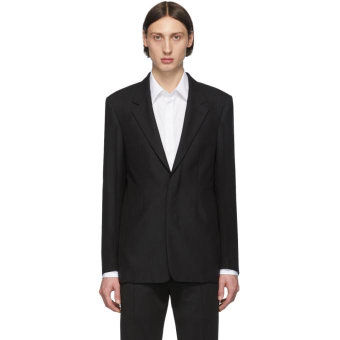 Maison Margiela 黑色羊毛单排扣西装外套