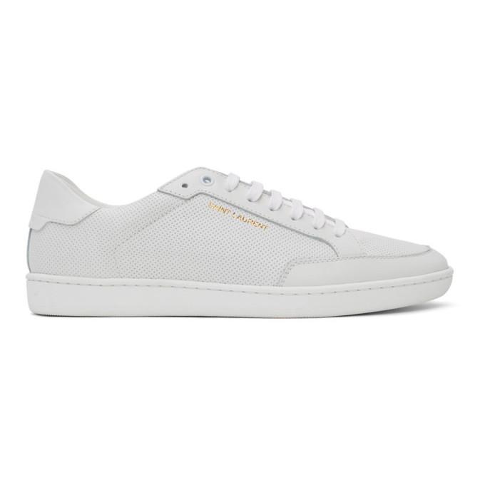 Saint Laurent 白色 Court Classic SL/10 运动鞋