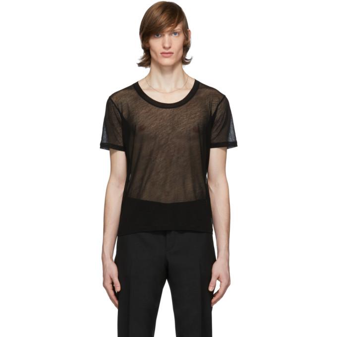 Saint Laurent 黑色透明 T 恤