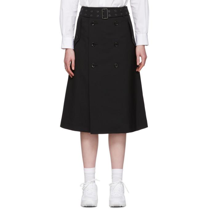 Junya Watanabe 黑色 Trench 羊毛半身裙