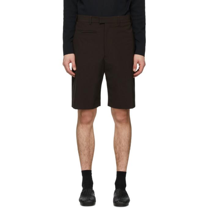 Bottega Veneta 棕色弹性帆布短裤