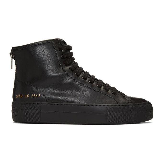 Common Projects 黑色 Tournament High Super 高帮运动鞋