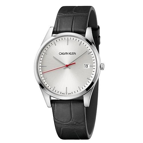 Calvin Klein CK 紳士率性時尚皮帶腕錶(K4N211C6)40mm