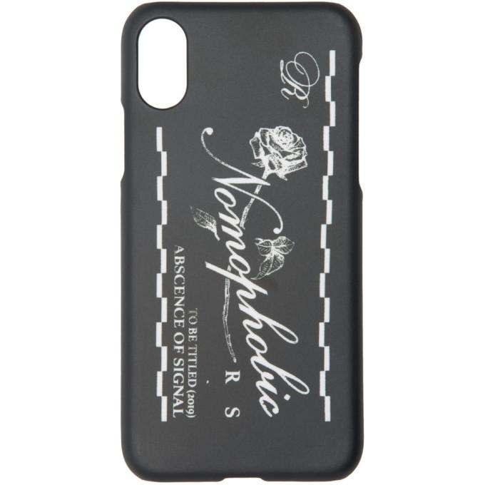 Raf Simons 黑色 Nomophobic iPhone X 手机壳