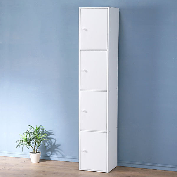 YoStyle 現代風四門置物櫃(純白色) 展示櫃 櫥櫃 收納櫃 組合櫃 書櫃 床邊櫃