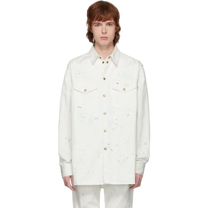Acne Studios 灰白色泼漆夹克衬衫