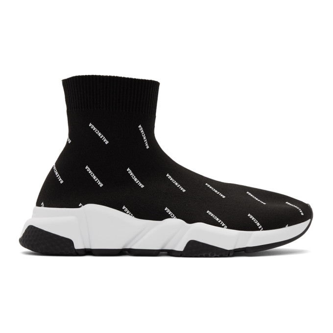 Balenciaga 黑色 Speed 全件徽标运动鞋