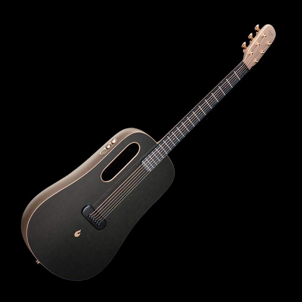 LAVA ME PRO Free Boost 插電加振款 41吋 拿火 碳纖維 民謠吉他 灰色 金色 - 【他,在旅行】