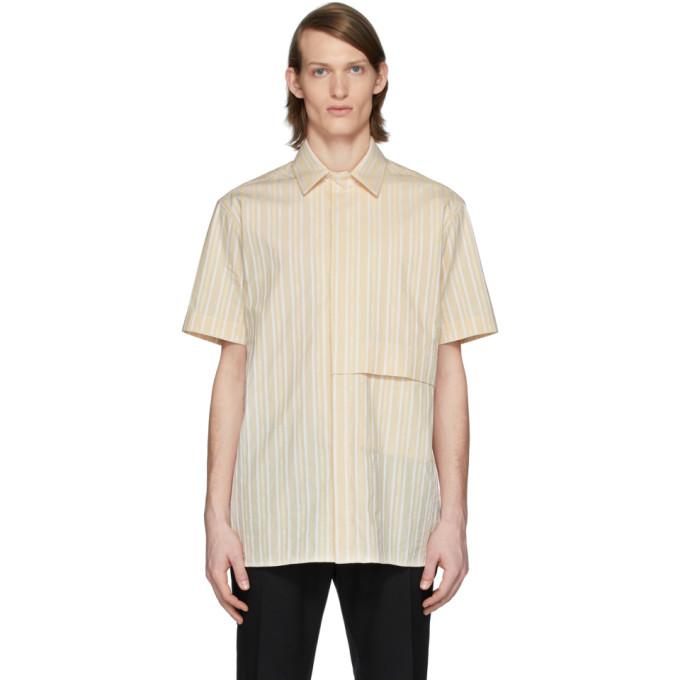 1017 ALYX 9SM 驼色 and 白色徽标衬衫