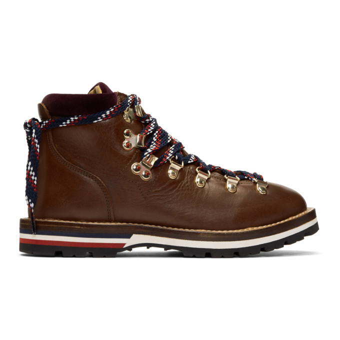 Moncler 棕色 Blanche 徒步靴