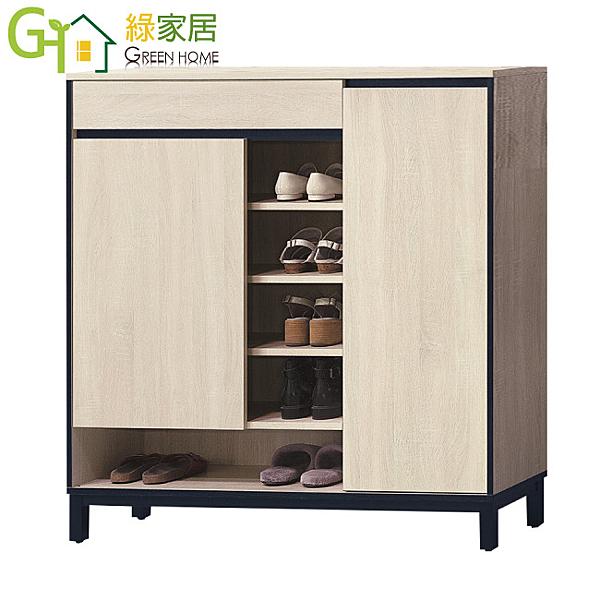 【綠家居】帕米 時尚4尺單抽二門鞋櫃/收納櫃