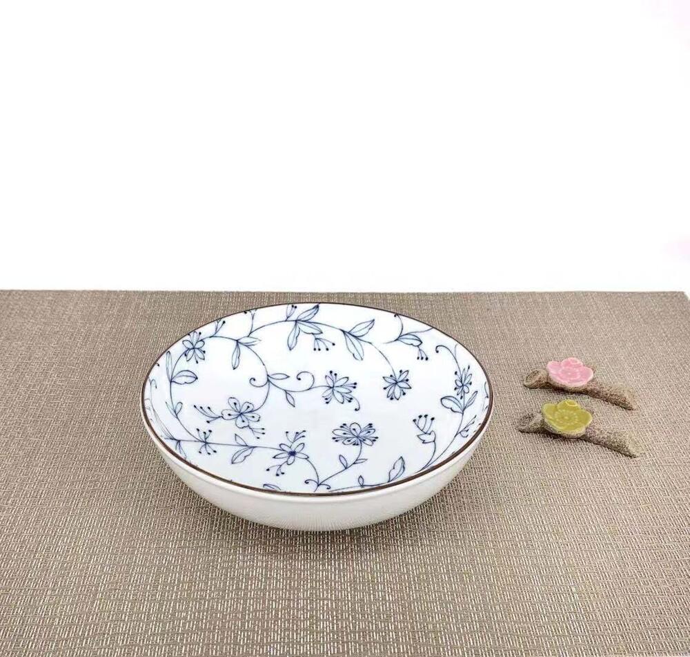 線唐草日式輕量煮物盤