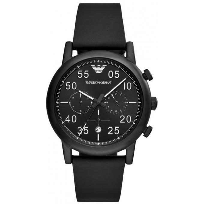 EMPORIO ARMANI 亞曼尼 AR11133 經典時尚簡約腕錶 /黑面 43mm