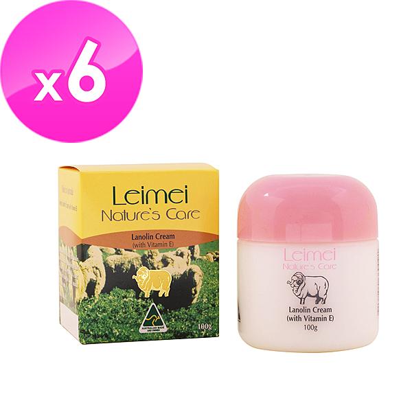 【澳洲Natures Care】 Leimei 經典綿羊霜含維他命E100gx6入組-網