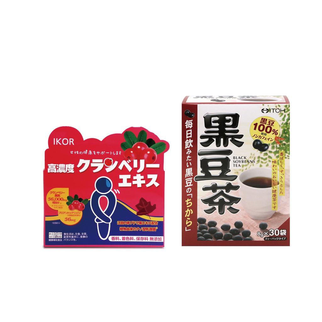 日本進口 私舒蔓蔓越莓益生菌(10袋)+黑豆茶茶包 (30袋/盒) 私密處保養 MC保養 閃閃發亮 養顏美容 孕產推薦