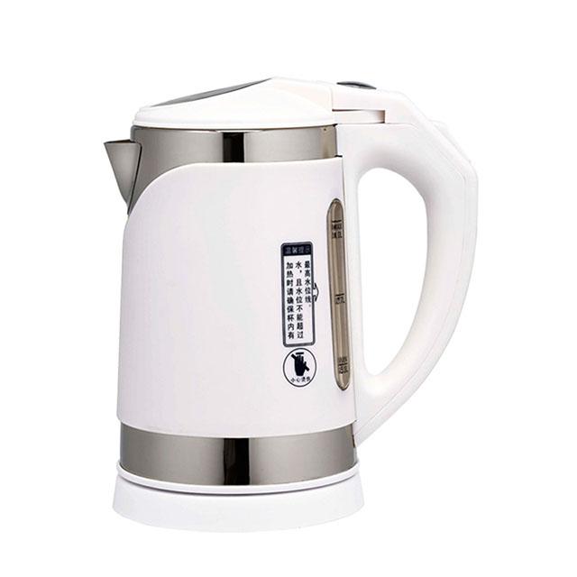 鍋寶 滑蓋式雙層隔熱1公升不鏽鋼智慧型快煮壺KT-100-D 免運