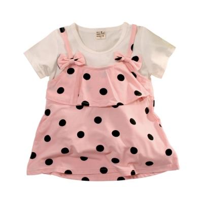女童假兩件洋裝 k51318 魔法Baby