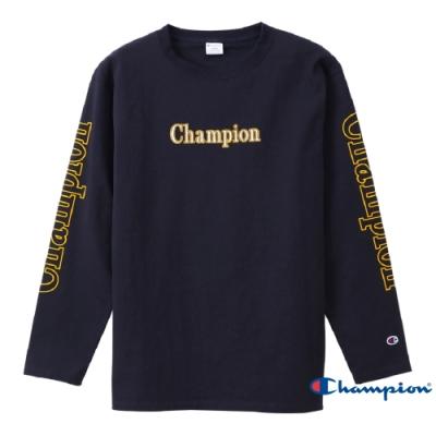 Champion Campus Logo長袖Tee 深藍色