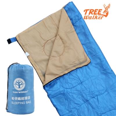 TreeWalker 輕便纖維睡袋-水藍