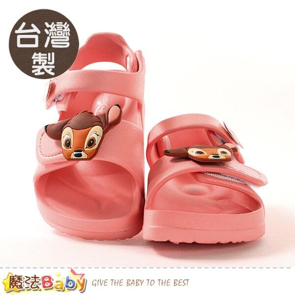 女童鞋 台灣製迪士尼小鹿斑比授權正版極輕量涼鞋 魔法Baby~sd3055