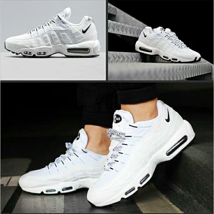 Nike Air Max 95 OG 全白 黑勾 慢跑鞋 609048-109