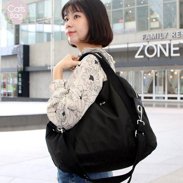 [ catsbag ] 超大容量ol必備防潑水二用包 斜背包 手提包 肩背包