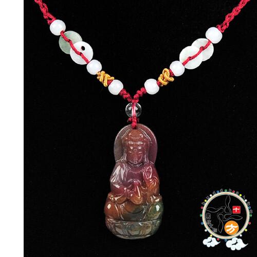 觀音菩薩(七彩玉)項鍊 十方佛教文物