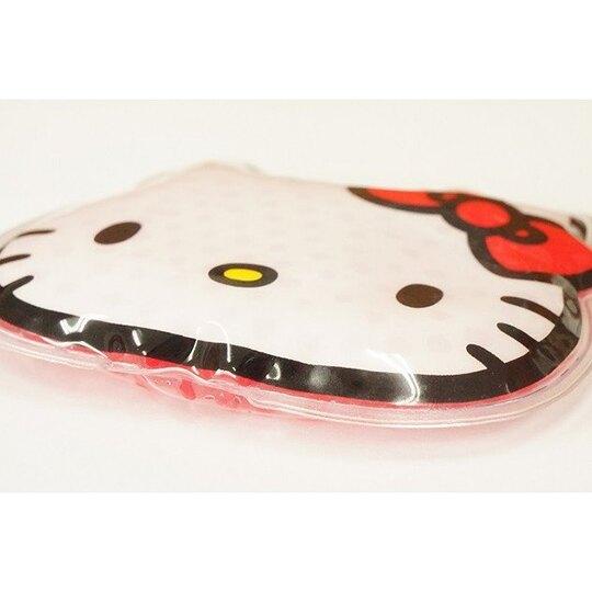小禮堂 Hello Kitty 透明果凍顆粒 保冷劑 保冰劑 冰墊 冰枕 冰敷袋 (白 大臉)