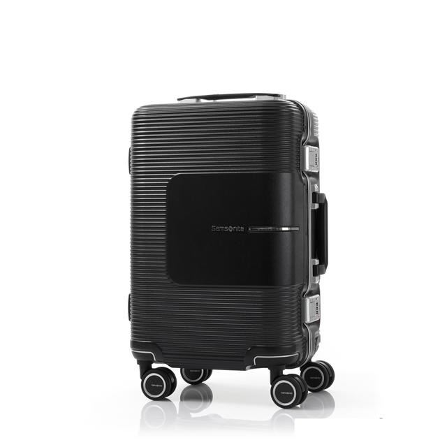 Samsonite新秀麗 20吋Tri-Tech摩登PC鋁框減震輪TSA海關鎖登機箱(霧黑)