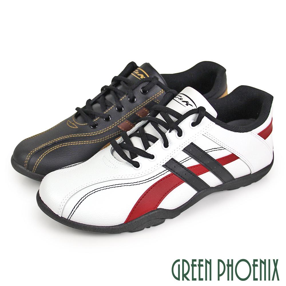 【GREEN PHOENIX】撞色線條感綁帶式休閒男鞋(男鞋)P-10811