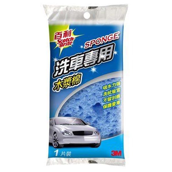 3m 百利 洗車專用木漿棉 lt1 -1片裝