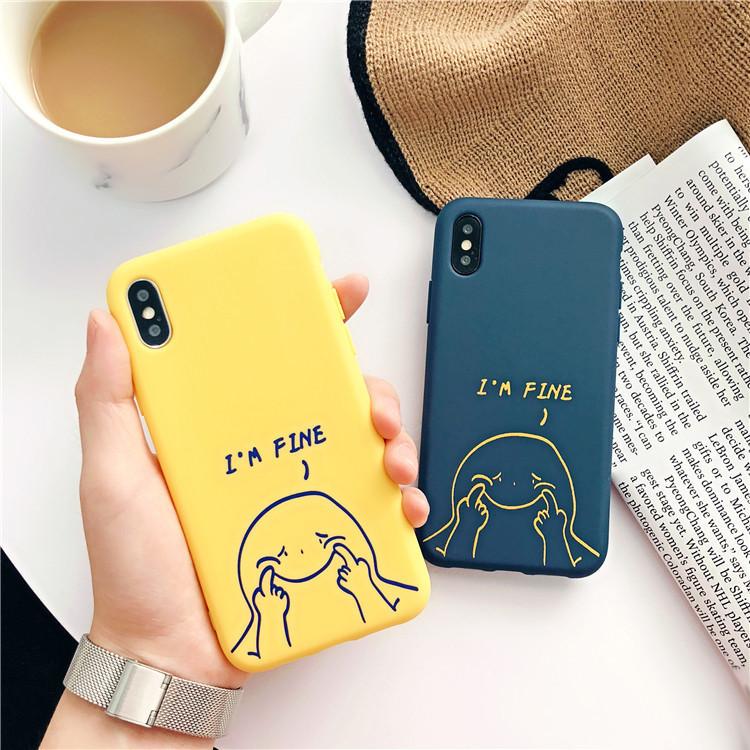出清SALE【可掛脖】傻蹦強顏歡笑創意iPhone手機殼