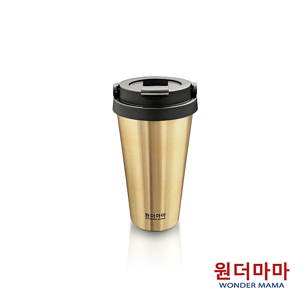 【優多生活】韓國WONDER MAMA 不鏽鋼保溫杯480ml (香檳金)