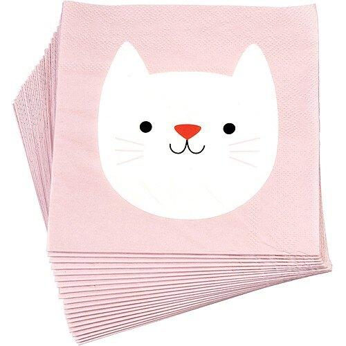 《Rex LONDON》方形餐巾紙20入(貓咪)