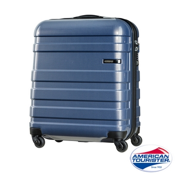 AT 美國旅行者 18吋HS MV + Deluxe時尚硬殼飛機輪TSA登機箱 海軍藍