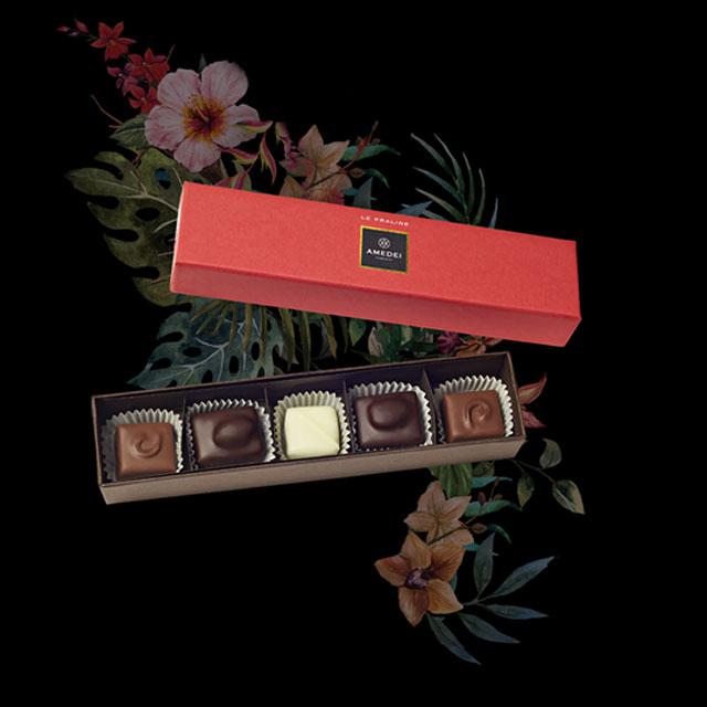 艾美黛手製巧克力 5 顆裝(紅盒)