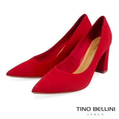 Tino Bellini巴西進口氣勢姿態8cm跟鞋_紅