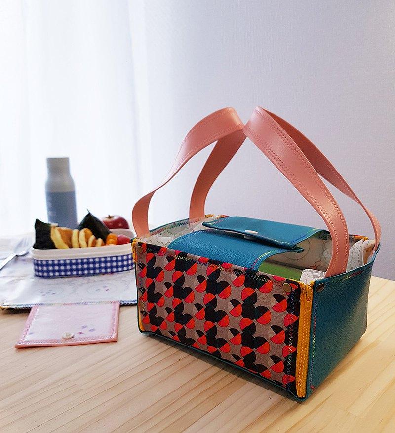 內外防水 餐墊 便當餐袋 和風圓彩Waterproof Placemat Lunch Bag
