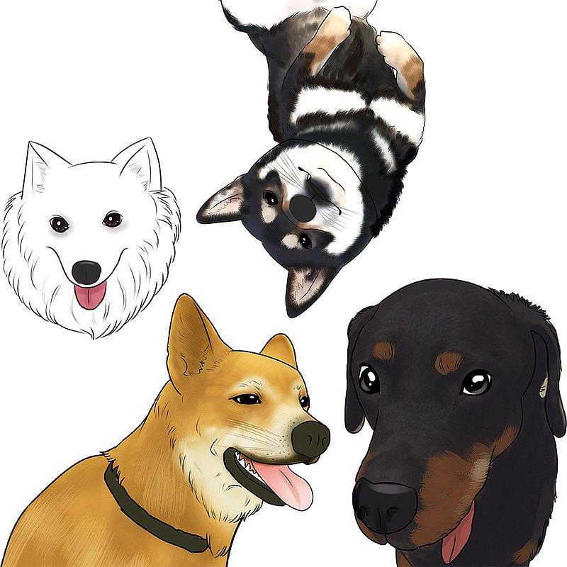 客製寵物畫像插畫-貓咪狗狗手繪似顏繪 寵物禮物