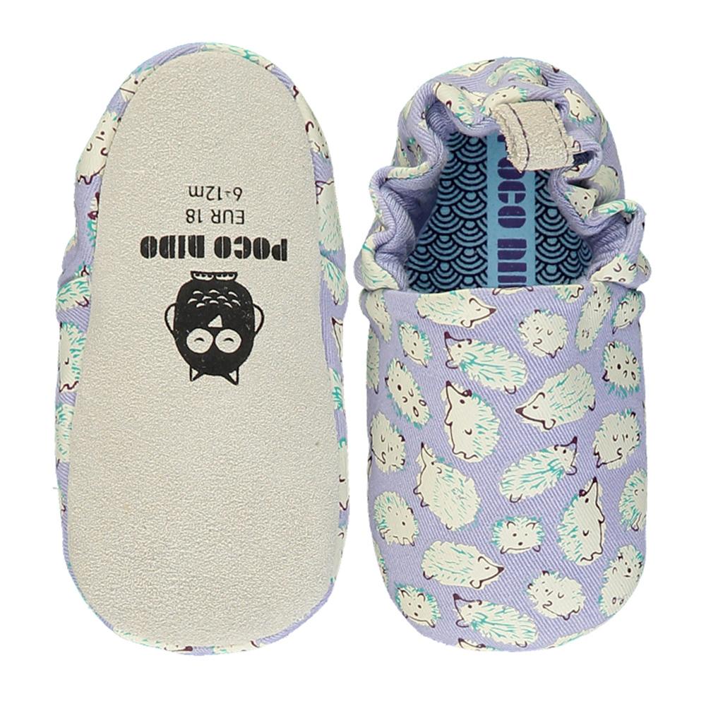 【英國 POCONIDO 】手工嬰兒鞋 (淡紫小刺蝟)