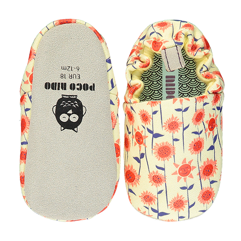 【英國 POCONIDO 】手工嬰兒鞋 (盛開向日葵)