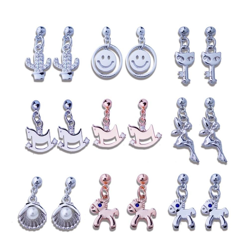 韓國造型小垂針夾系列 925銀針 夾式 針式 耳環bonjouracc
