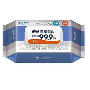 優生酒精濕巾80抽(超厚型)抗菌99.9%