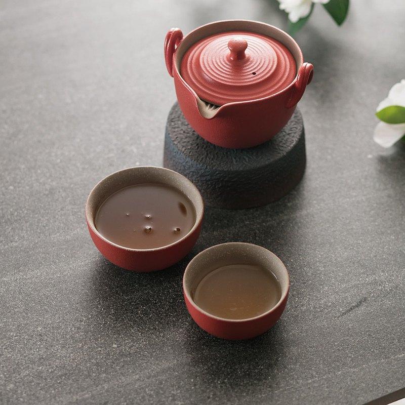 原礦陶然品茗茶禮 茶組 浮雕鳳凰圖騰 富吉祥如意 新式蓋碗
