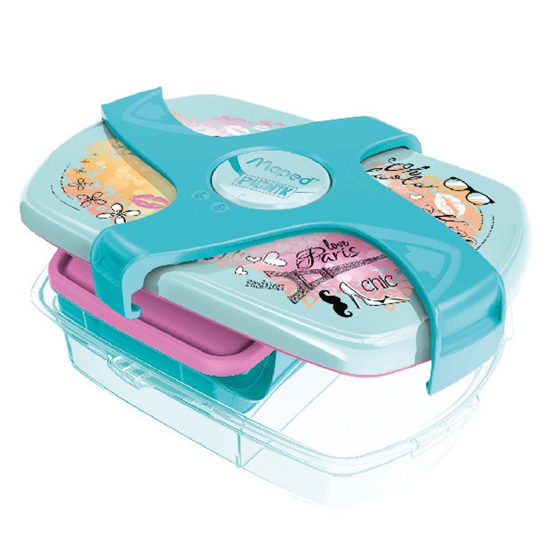 法國MAPED - 輕鬆開兒童子母餐盒-氣質巴黎-1.78L